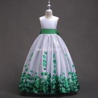 cosplay ball gowns toptan satış-Düğünler Jewel Kanat Bow Kat Uzunluk Kız Pageant Elbise Çocuk Doğum Günü Partisi Gowns Cosplay Wear İçin Balo Çiçek Kız Elbise yazdır