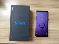 note phone оптовых-С отпечатков пальцев Goophone Примечание 9 note9 6,3-дюймовый note8 сотовый телефон Quad Core Android 6.0 1G RAM 16G ROM показать поддельные 128 ГБ поддельные 4G LTE смартфон