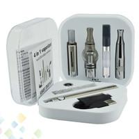 batterie stylo vape liquide achat en gros de-Evod Kit 4 en 1 4en1 Multiple Vape Pen EVOD Batterie MT3 Dry Herb WAX CE3 Cartouche huile épaisse et liquide DHL Gratuit