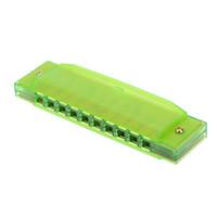 instrumento musical boca venda por atacado-Boca Fluorescente Órgão Chave de C Reed Instrumento com Caso Kid Musical Toy Green