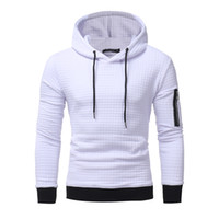 Wholesale korean style casual clothing online - Men New High End Casual Hoodie Men S Fashion Unique Korean Style Long Sleeved Sweatshirt Fashion Hot Male Clothing