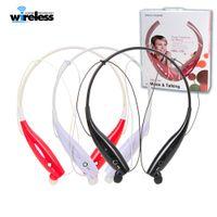 Wholesale hbs neckband headset online – HBS Wireless Bluetooth Headset Sports Bluetooth Earphones Headphone with Mic Bass Earphone for Samsung iphone smartphones