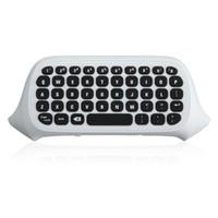 Wholesale Mini Keys Keyboard - 47 Keys 2.4G USB Mini Wireless Chatpad Message Keyboard Keypad for XBOX ONE Game Controller Wireless Keyboard Black White