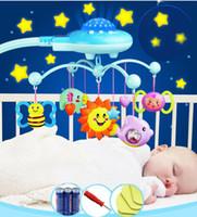 jouets berceaux achat en gros de-Bébé Hochet Infantile Jouets Pour 0-12 Mois Crib Mobile Lit Bell Avec La Musique Et Le Ciel Étoiles Projection Apprentissage Précoce Enfants Jouet