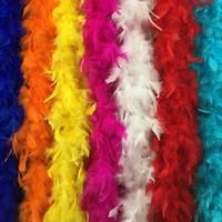décorations de fête boa de plumes achat en gros de-Boa de plumes 180 cm burlesque showgirl poule nuit Déguisements party dance costume costume accessoire mariage DIY décoration 17 couleurs Z903C 100pc