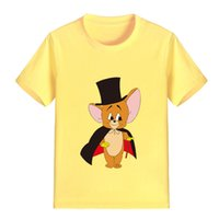 Wholesale mouse clothes - NEW ARRIVAL Children Cartoon T Shirt Cut Mouse Printed Boy Kid Clothes Short Sleeve Girl Tee Shirt Kid Summer P1986