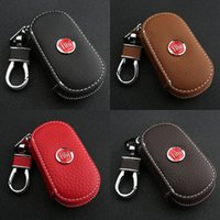 Wholesale case fiat - 2017 Keychain Bag Holder Case Fit For Fiat Car Auto Genuine Leather Key Bag New