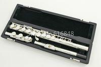 16-канальная флейта оптовых-PEARL PF-665E 16-луночное закрытое C Tune Flute Cupronickel Посеребренная Флейта Музыкальный инструмент с футляром и аксессуарами