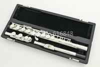 musikalische perlen groihandel-PEARL PF-665E 16 Löcher geschlossen C Flöte Cupronickel versilbert Marke Flöte Musikinstrument mit Koffer und Zubehör