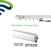 Wholesale Curtain Tracking - Ewelink Dooya Electric Curtain System DT52E 45W Curtain Motor with Remote Control+Motorized Aluminium Rail Tracks 3M
