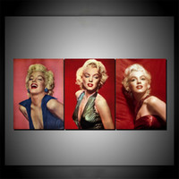 Wholesale marilyn monroe canvas prints for sale - Group buy Marilyn Monroe Pieces Home Decor HD Print Modern Art Canvas Unframed Framed