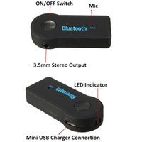 Wholesale car mp3 player aux - Bluetooth wireless FM transmiter modulator Car kit mp3 Music Audio Stereo player Radio Adapter for Car AUX IN Home Speaker MP3