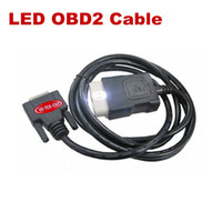 Wholesale Tcs Cdp Pro Plus - OBD II Cable Best Quality LED OBD2 Cable Suitable for black and RED VD TCS CDP PRO PLUS cn Post Free Shipping