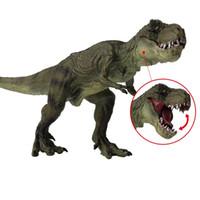 niño rex al por mayor-Juguetes de modelo clásico de dinosaurio de simulación Parque jurásico del mundo del PVC Walkiing Tyrannosaurus Rex muñeca de plástico para cabrito regalo de Bithday suministro 15 5sg YY
