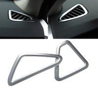 хромированные решетки оптовых-2 шт. стайлинга автомобилей ABS хром кондиционер вентиляционные крышки наклейки автозапчасти аксессуары высокое качество для BMW X5 F15 2014-2015 DDA229