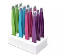 eğimli kaş cımbızları toptan satış-Toptan 24 Adet Renkli Paslanmaz Çelik Eğimli Ucu Güzellik Kaş Cımbız Epilasyon Araçları Düşük Fiyat En Iyi Promosyon ücretsiz kargo