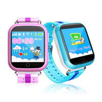 Wholesale watch phone touch screen wifi - Q750 Kids Smart Watch GPS Wifi LBS Monitor Locator Watch Phone 1.54 Inch Touch Screen SOS Safe Anti-Lost Location Device Tracker