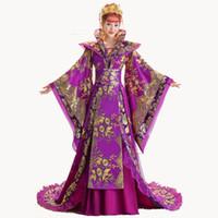 ingrosso costumi cinesi antichi donne-Brand New Designer cinese antica dinastia Tang regina Tailing Costume Guzheng Show abbigliamento donna Hanfu fotografia cinese