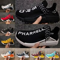 Wholesale Nude Cotton Fabric - Pharrell x Original HU NMD Trail HUMAN RACE nmds NERD black Colette men women sports sneaker moon noble ink pale nude running Shoes