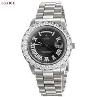 роскошные часы бриллианты оптовых-Горячие продажи мужчины Марка часы большие алмазы безель топ роскошные мужские наручные часы для женщин часы дизайнер мода часы dropshipping