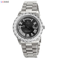 большие часы с бриллиантами оптовых-Hot Sale men  watch big diamonds bezel top  mens wrist watches for female clock designer fashion watch dropshipping