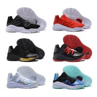 Wholesale tai gold - 2018 Stephen Curry 4 Low Cut MVP Finals Tai Chi Oreo Black Red Gold Red Basketball Shoes Sneakers for Men