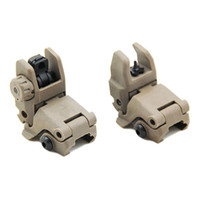 Wholesale ups rail for sale - Group buy Tactical M4 AR15 AR Front and Rear Flip Up Sight Rapid Transition Backup Folding Sight for Picatinny Rail