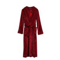 Radient Winter Herbst Frauen Korallen Fleece Robe Mujer Nachtwäsche Warme Dame Bademantel Nachthemd Kimono Morgenmantel Robe Nachthemd & Bademantel-sets