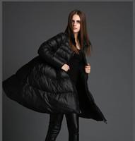 falda grande abrigos al por mayor-2018nuevo abrigo de invierno falda grande suelta yardas grandes grueso chaqueta abajo pato blanco abajo de alta calidad hembra S18101306