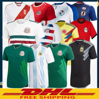 Wholesale united wholesalers - DHL Free shipping 2018 Mexico Argentina Egypt Peru Japan Panama Colombia Costa Rica United States Soccer Jersey Size can be mixed batch