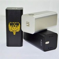 v3 mod vape al por mayor-Vaperz Cloud Hammer of God V3 Box Mod Cigarrillo electrónico Vape Mod fit 4 piezas 18650 Batería para Kennedy 24 25 RDA Atomizer Vaporizador Kit