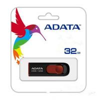Wholesale 64 gb usb flash drives - 100% real 32gb 16gb 8gb ADATA C008 16GB USB 2.0 Retractable Capless Flash Drive Blue AUV128-16G-RBE