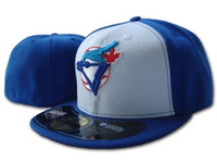 Wholesale fields fashion - Men's Toronto On Field Baseball Fitted Hats Sport Team Logo white blue color on field Full Closed Caps Out Door Fashion