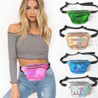 Wholesale Bum Bags - Travel Waist Fanny Pack Money Belt Wallet Wet Look Bum Bags Pouch New Women Purse Waist Bag EP Punk Party Beach bag BBA89