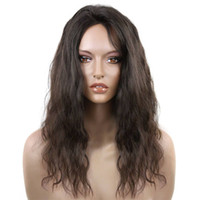Wholesale pretty caps for women for sale - Group buy Pretty a cheap beauty unprocessed raw virgin remy human hair long natural color water wave full lace cap wig for women