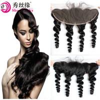precio cabello virgen chino al por mayor-Precio barato pelo suelto de la onda china oído a oreja encaje frontal cierre 13X4 parte libre con cabello de bebé cabello virgen