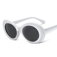 Wholesale kurt cobain sunglasses for sale - Group buy Women Clout Goggles Glasses Men NIRVANA Kurt Cobain Sunglasses Female Male Oval Sun Glasses Black White Eyewear UV400