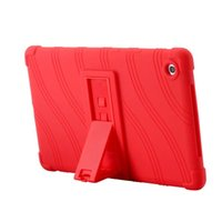 Wholesale cases huawei mediapad tablet resale online - Soft Silicon Rubber TPU Back Cover for Huawei Mediapad M5 SHT AL09 SHT W09 inch Tablet Protective Pouch Bag Case Stand