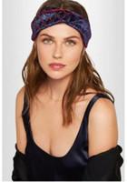 Wholesale Turban Party Women - Designer Elastic Headbands for Women 2018 New Luxury Brand Letter Cross Turban hairband Streetwear Hair Jewelry Gift