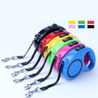 Wholesale Leather Dog Leads - New 3m 5m Retractable Dog Leash Lead One Handed Lock Training Pet Puppy Walking Nylon Leashes Adjustable Dogs Collar 10 8lx2 Z