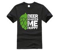 заказное пиво оптовых-пользовательские печатных хлопок o шеи футболка пиво делает меня хмелевой смешным пиво пьет пивные футболки