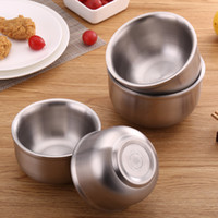 Popular Double Layer Rice Bowl 304 Stainless Steel Korean Type Hot Resistant Children Bowls