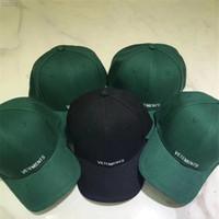 en iyi hip hop kapakları toptan satış-Vetements Beyzbol Şapkası Kadın Erkek 1a: 1 En İyi Kalite Hip Hop Streetwear Kaykay Vetements Caps