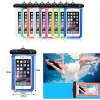 Wholesale plain phone case cover - WaterProof phone Pouch transparent Bag Dry Case Cover For Phone outdoor Diving Swimming colorful bag FFA338 1000PCS Outdoor Bags