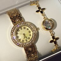 fashion girl model dress - 2018 New model full diamond Fashion women watch Gold Luxury famous brand dress watch small dial lady elegant wristwatch Hot items girls gift