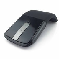 Wholesale arc optical - Drop Shipping Wireless Mouse 2.4 Ghz Arc Touch Computer Mouse Folding Optical Mice USB Receiver for Laptop PC Computer Desktop