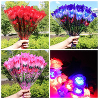Wholesale New Mother Flowers - LED Light Up Rose Flower Valentines Mothers Day Gift Birthday Party Supplies Wedding home decor Decoration LED Toys