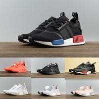 en iyi r1 toptan satış-2018 Hafif Ultra NMD R1 Primeknit PK Koşu Ayakkabıları kadın mens Mükemmel En İyi Kalite Koşucu Primeknit tasarımcı Sneakers ayakkabı botla ...