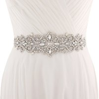 Wholesale handmade belts for dresses - 2018 Handmade White Ivory Belt For Wedding Dresses Beaded Crystal Wedding Sash Wedding Accessories Rhinestone Bridal Sash CPA1222