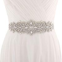 Wholesale rhinestone wedding sashes - 2018 Handmade White Ivory Belt For Wedding Dresses Beaded Crystal Wedding Sash Wedding Accessories Rhinestone Bridal Sash CPA1222